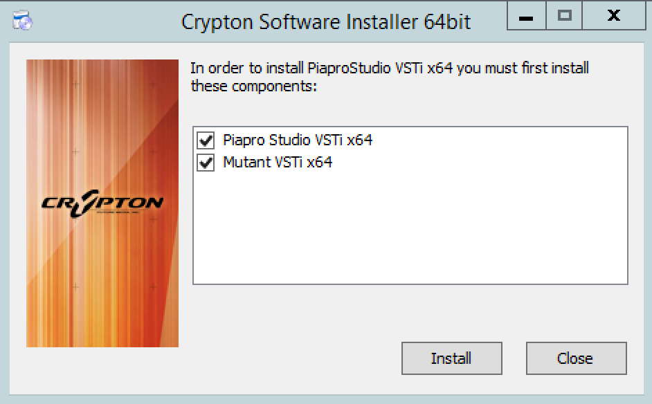 Crypton Software Installer process