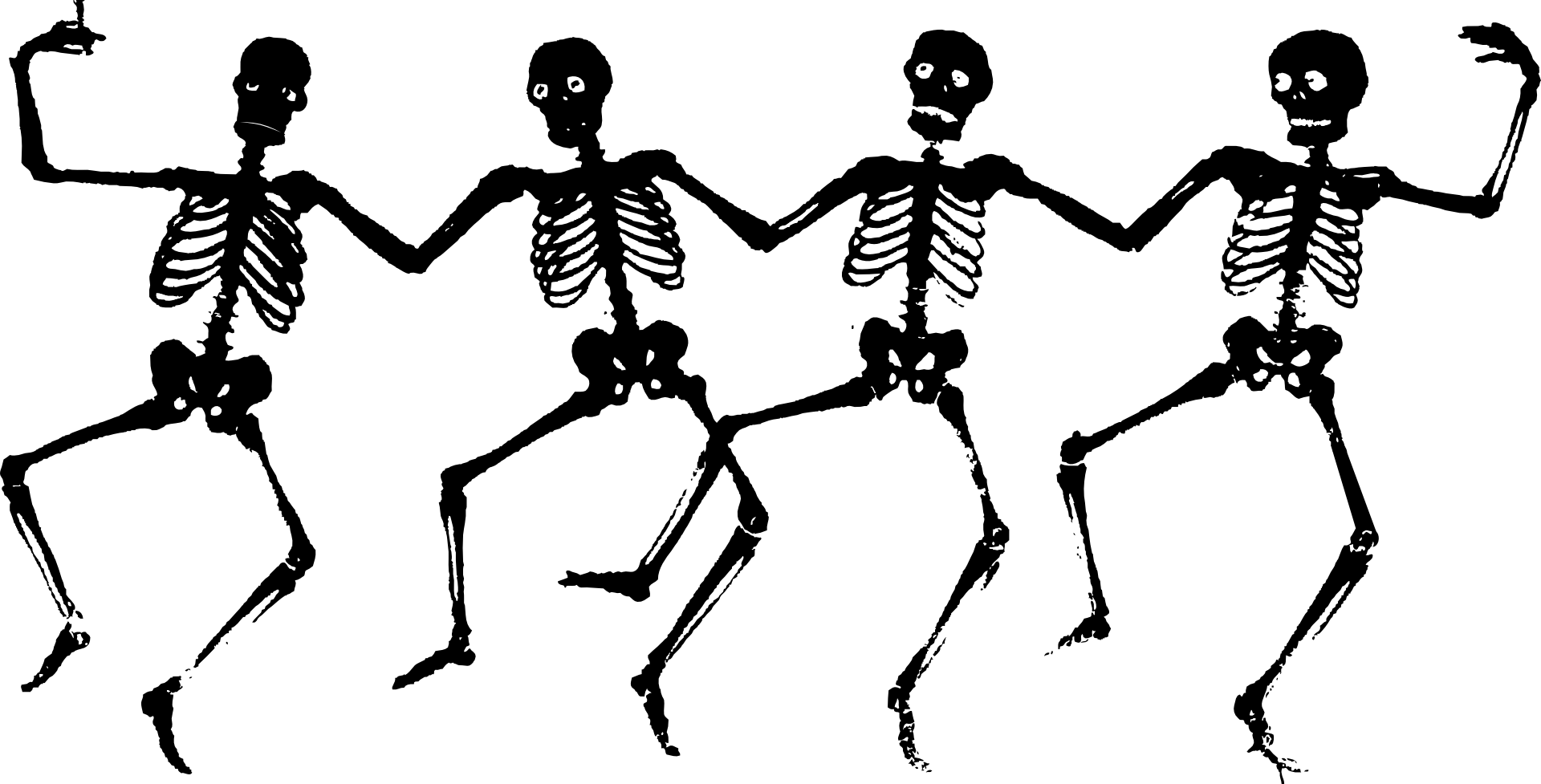skeletons, human, dancing